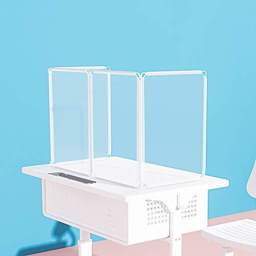 HH1 Mampara de Protección de Resina Transparente Pantalla Protección para Mostrador Separador Transparente para Colegios Supermercados Farmacias Tiendas,60x30x40cm