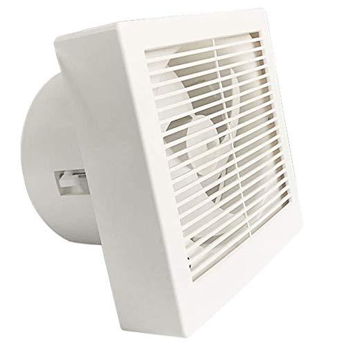 YKAMM Ventilador de conducto Extractor Ventiladores de Escape Ventilador de Escape de Alta Velocidad Inodoro Cocina Baño Colgante de Pared Ventana Ventiladores de Pared Vidrio