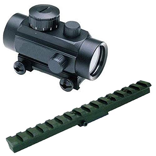 GOTICAL Tactical Mosin Nagant M44 91-30 M91-30 7.62x54 Rifle Weaver-Picatinny Aluminum Scout Rail Mount Heavy Duty + Dual Red & Green Illuminated Dot Hunting Scope Sight