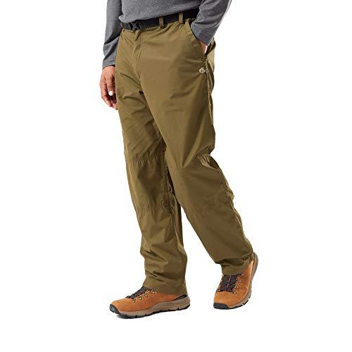 Craghoppers Kiwi Classic TRS - Pantaloni da Trekking da Uomo Muschio Scuro. 34W x Regolare