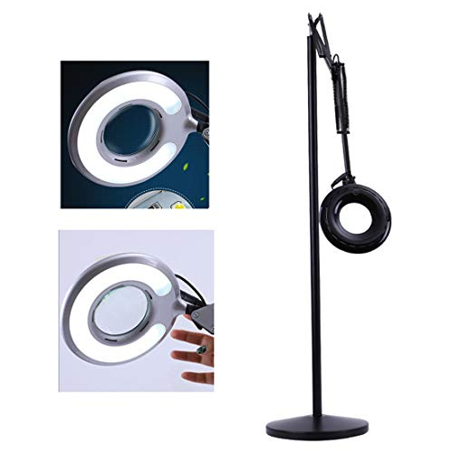 LED loeplamp 8X vergrootglas Vergrootglas Geschikt voor salon tattoo nail skin beauty loep staande lamp zwart