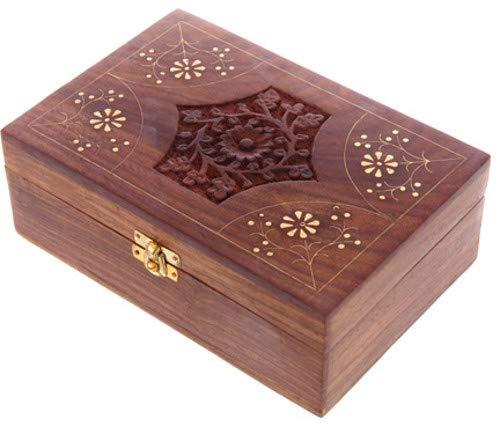 Sheesham Wood Essential Oil Box - Design 2 (Holds 24 Bottles)