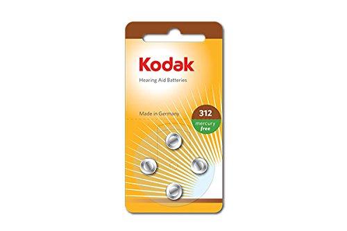 Kodak 30410428 Pack de 4 Piles pour Appareil auditif Taille P312 Argent