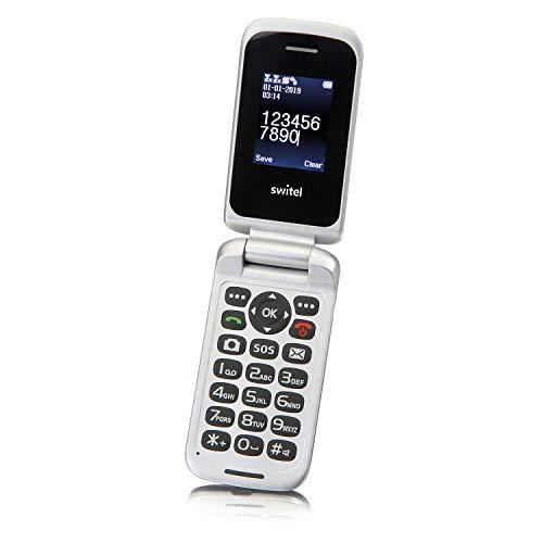 Switel M230 Klassisches Klapphandy mit SOS-Notruftaste, DUAL-SIM Kartenfunktion und Vibrationsalarm