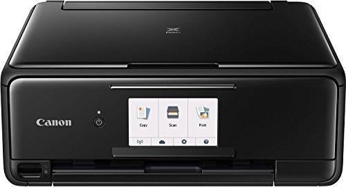 Canon PIXMA TS8150 Tinten-Multifunktionsgerät (Drucken, Scannen, Kopieren, 6 separate Tinten, WLAN, Print App, automatischer Duplexdruck, 2 Papierzuführungen) schwarz