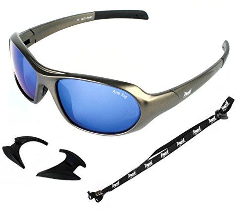 Rapid Eyewear Aspen blau verspiegelt Sport Sonnenbrille und brillenband: Perfekte Kletterbrille, Gletscherbrille, Skibrille und Snowboardbrille. UV Schutz 400 Brille. Für Herren und Damen