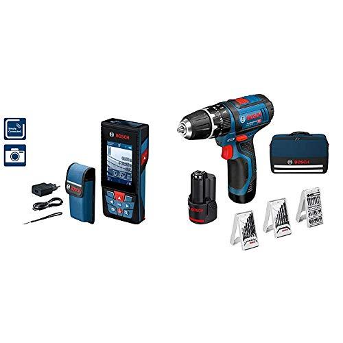 Bosch Professional Medidor láser de distancia GLM 120 C + Professional 12V System Taladro percutor a batería GSB 12V-15 - Amazon Edición