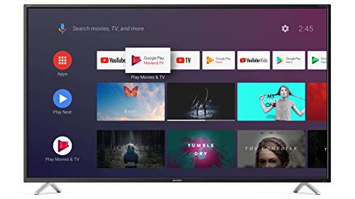 "Sharp Aquos 4T-C55BL2EF2AB - 55"" Smart TV 4K Ultra HD Android 9.0, Wi-Fi, DVB-T2/S2, 3840 x 2160 Pixels, Nero, suono Harman Kardon, 4xHDMI 2xUSB, 2019"