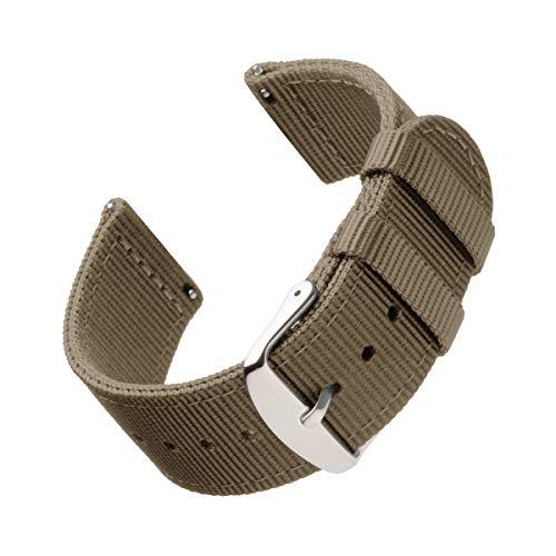 Archer Watch Straps | Repuesto de Correa de Reloj de Nailon para Hombre y Mujer, Correa Fácil de Abrochar para Relojes y Smartwatch | Caqui, 22mm