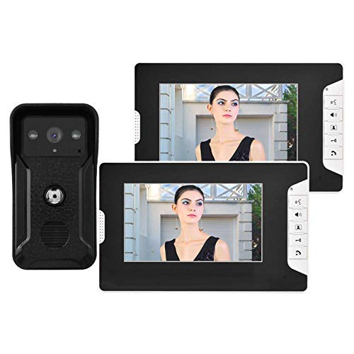 Timbre con Video Timbre con Video en Color, para intercomunicador Manos Libres, para Seguridad en el hogar(European Standard (100-240v), Transl)