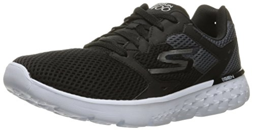 Skechers Go Run 400, Chaussures Multisport Outdoor Homme, Noir (Black White), 43 EU