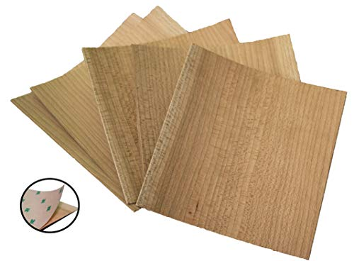 Unfinished PSA Cherry Veneer Pack | Thin Wood Sheets for Laser Cutter, DIY Wedding Decor, Painting Signs
