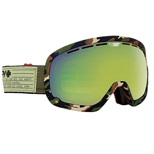SPY Optic Marshall Snow Goggles | Aviation Scoop Design Ski, Snowboard or Snowmobile Goggle | Two Lenses with Patented Happy Lens Tech