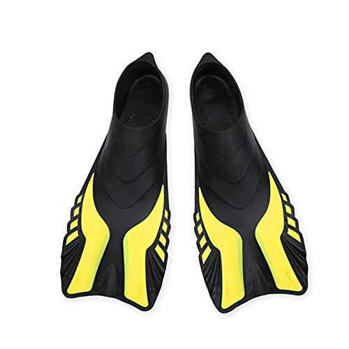 FGJH Aletas de natación Snorkel Aletas Agua Deporte Flexible Neopreno Anti-Slip Swim Shood Natación Aletas de Buceo para Adultos Deportes acuáticos 420 (Color : Yellow, Size : Large)