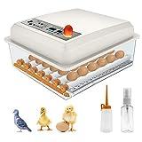 SEAAN Egg Incubator, 36 Digital Fully Automatic Incubator for Chicken Eggs, Duck Eggs, Goose Eggs, Pigeon Eggs & Bird Eggs, Hatcher Machine