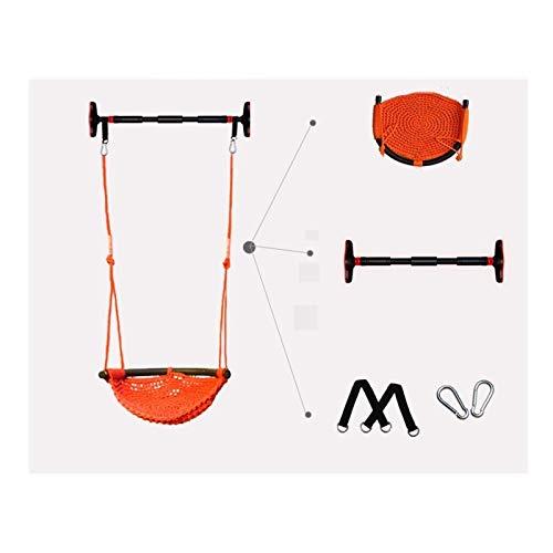 Actividades y entretenimiento Asiento de columpio Swing de niños interiores y exteriores, silla colgante con una cuerda neta de calidad para una comodidad superior y durabilidad Play Carpas y juguetes