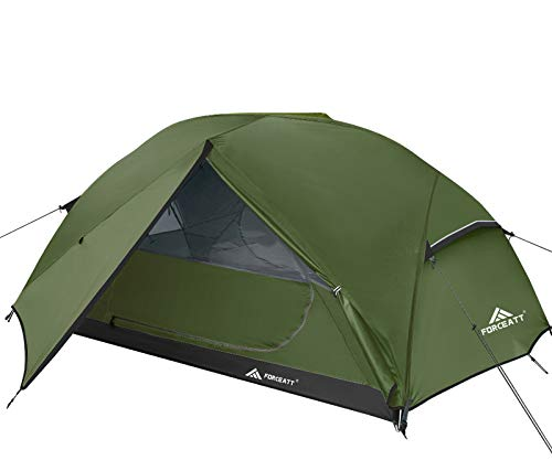 Forceatt Tent 2-3 Person Camping Tent, Waterproof and Windproof 3-4 Seasons Ultralight Backpack Tent, can be Installed Immediately, Suitable for Hiking, Camping, Outdoor (2-Person-Dark Green)