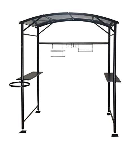 Habrita Foresta - Carport barbecue en acier gris anthracite 180x143x224 cm  - CAR1713AC