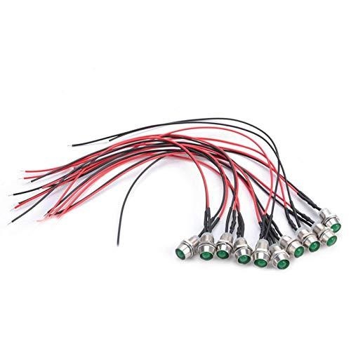 Diodo LED, bajo consumo de energía Diodo emisor de luz con ahorro de energía, para decoraciones de automóviles Indicador de señal de linterna(Green hair)
