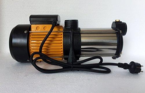 Mehrstufige Kreiselpumpe megafixx HMC5SC 1800 Watt bis 6 BAR - 5 Stufen - Laufräder aus Edelstahl - 9000 Liter pro Stunde