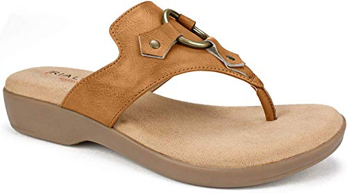 RIALTO Shoes Bianka Women's Sandal, Natural/Burnished Smooth, 8 M