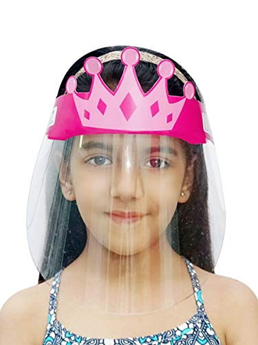 Storite D'chica SBF & PET Sheet Princess Face Shield Mask For Girls 3-8 Years