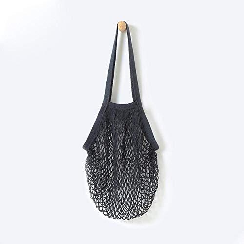SDCVRE Bolsa de la Compra,Net Cloth Reusable Fruit Vegetable Shopping Bag Casual String Grocery Shopper Cotton Tote Mesh Woven Net Shoulder Bag Women,C,China