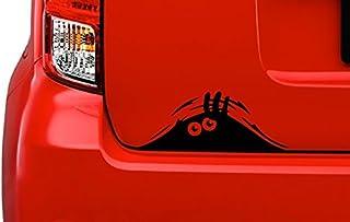 CustomDecal US Peeking Monster Eyes Vinyl Decal Sticker (F20) | Waterproof | Easy to Apply on MacBook, Laptop, iPad, Car, Truck, Boat, Trailer, Window, Tool Box | Cartoon Funny Scary Eyes Creature