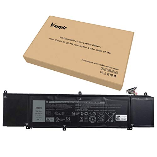 Vanpir XRGXX Laptop Battery, 11.4V 90Wh 7500mAh 6-Cell Compatible with Dell G5 15 5590 G7 15 7590 G7 17 7790 Alienware M15 M17 Series Notebook 06YV0V 1F22N