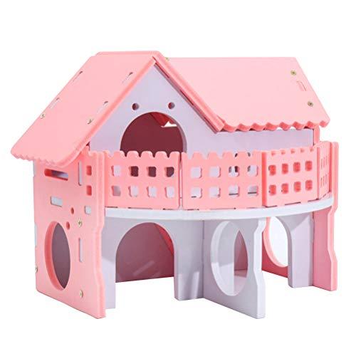 POPETPOP- Hamster Bettwäsche Haus mit Doppelschicht Kleintiere Käfig Nest Sleeping House Cottage