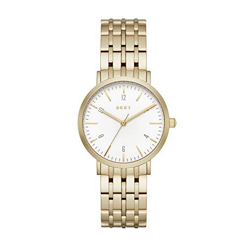 DKNY Damen Analog Quarz Uhr mit Edelstahl Armband NY2503