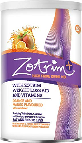 Zotrim: Zotrim Plus - Weight Control Support High Fiber Drink Mix with Vitamin C, Niacin, and Vitamin B6 to Assist in Energy Release - 30 Servings - Orange and Mango Flavor - Eat and Snack Less
