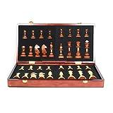 FEANG Tablero Juego de ajedrez de Madera para niños Adultos y ajedrez para Principiantes Conjuntos de Juego de ajedrez Internacional Plegable de 17.7' Ajedrez y Damas (Color : 17.7 * 17.7in)
