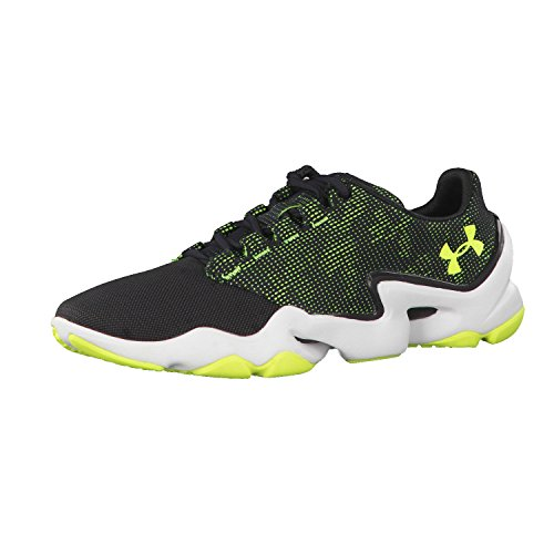 Under Armour Mens Phenom Proto, Black/Yellow, 11.5 D