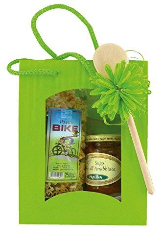 Geschenkset Fahrradnudeln Pasta Bike mit Sugo all'Arrabbiata