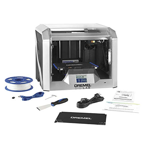 Dremel - 3D40-FLX-01 DigiLab 3D40 Flex 3D Printer with Filament, Flexible Build Plate, Fully Enclosed Housing, Automated 9-Point Leveling, PC & MAC OS, Chromebook, iPad Compatible, Network-Friendly