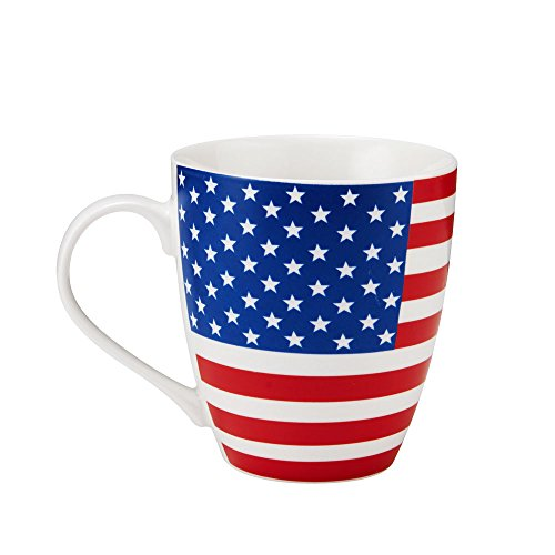 Pfaltzgraff Patriotic American Flag Coffee Mug - Large American Flag Coffee Mug - 18 Oz