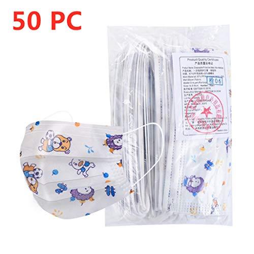 MaNMaNing Niños Protección 3 Capas Transpirables con Elástico para Los Oídos Pack 10/20/50 unidades 20200708-MaNMaN-C10/50 (50, Púrpura)