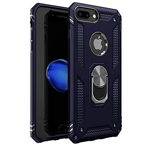 Amuoc Compatible with iPhone 7 Plus | 8 Plus Case [ Military Grade ] 15ft. Drop Tested Protective Case [Kickstand ] -Royal Blue