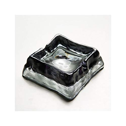 JINSUO Yiyuntian Ashtray-Glass Windproof Ashtray with Lid for Tabletop Gift for Friends Hotel Home Decoration Accessories Smokeless Ashtray Holder (Color : Black)