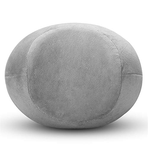 Ljings - Cuscino per ginocchio in memory foam, per migliorare la circolazione sanguigna e l'allineamento corretto della postura, colore: grigio