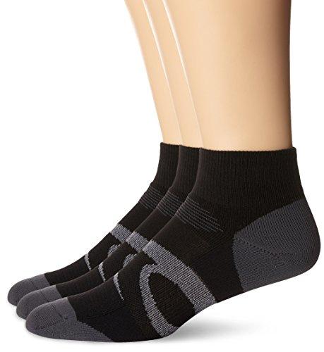 ASICS Intensity Quarter Socken (3er-Pack), Herren Damen, Socken, Intensity Quarter (3 Pack), Schwarz sortiert, Medium
