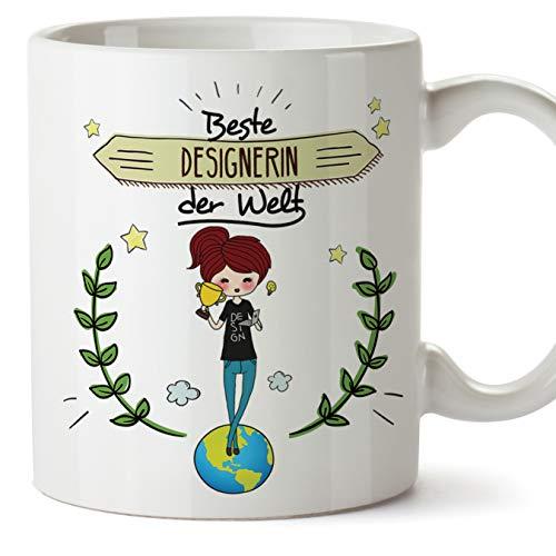 Designerin Tasse/Becher/Mug Geschenk Schöne and lustige kaffetasse - Beste Designerin der Welt - Keramik 350 ml