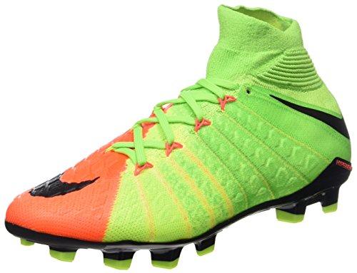 Nike Hypervenom Phantom 3 DF FG, Zapatillas de Fútbol Unisex Niños, Multicolor (Elctrc Green/blk-hypr Orng-vlt), 36 EU