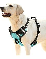 HEELE No-Pull Hond Harnas, Verstelbare Reflecterende Pet Vest Harnas Geen Verstikking Hond Harnas voor Kleine, Medium, Grote Honden Outdoor Wandelen Training