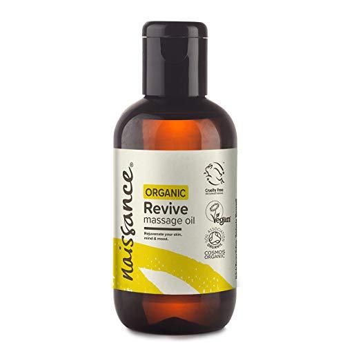 Naissance Revive Olio da Massaggio Rinfrescante 100ml Certificato Biologico con Argan, Jojoba e Cipresso
