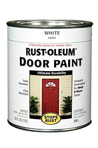 Rust-Oleum 238311 Door Paint, White, 1-Quart