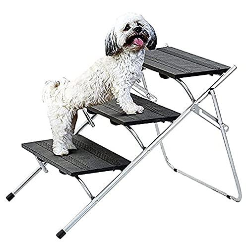NXL Escaleras Plegables para Mascotas, 3 Escalones, Escalones Plegables para Perros, Escaleras para Mascotas, Livianas con Escalones, Escaleras para Perros, Rampa Plegable para Perros, Ideal