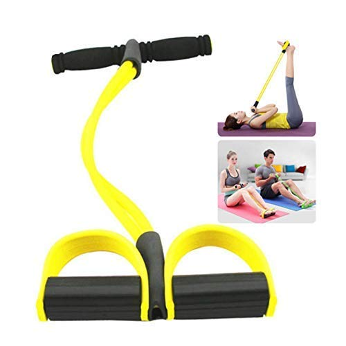 GLIVE (LABEL) Fitness Resistance Bands Latex Pedal Exerciser Women Men Sit up Pull Ropes Yoga Fitness Equipment
