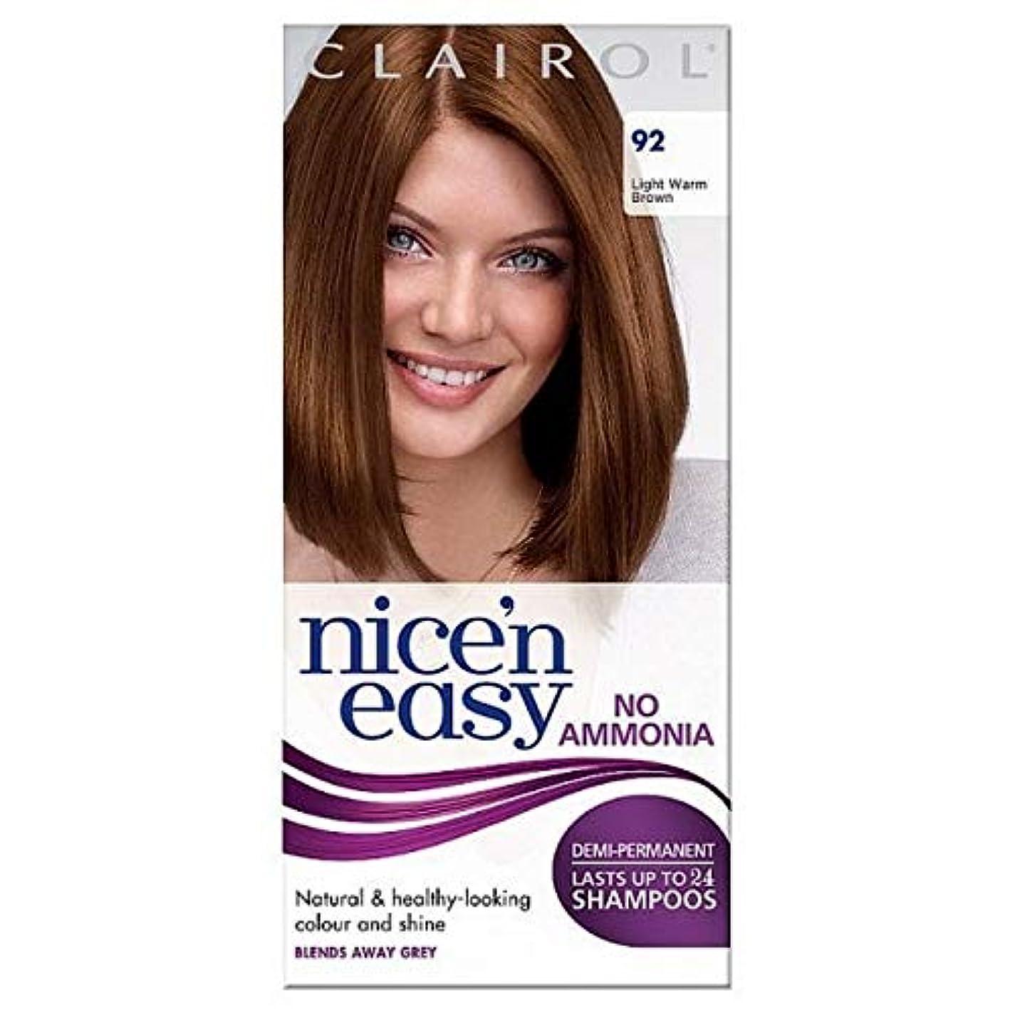 コピー曲げるこれら[Nice'n Easy] Nice'N簡単に無アンモニア染毛光暖かいブラウン92 - Nice'n Easy No Ammonia Hair Dye Light Warm Brown 92 [並行輸入品]